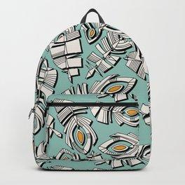 deco feathers mint saffron Backpack
