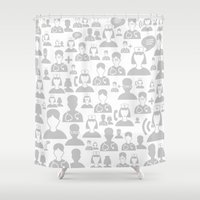 medical Shower Curtains featuring Medical background by aleksander1