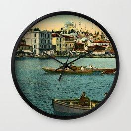 Vintage Golden Horn Constantinople ca 1900  Wall Clock