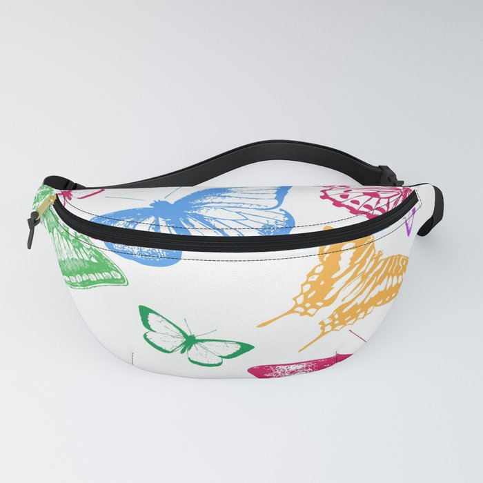 Colorful Rainbow Butterflies Fanny Pack