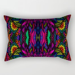 Psychedelic Illusions Intense Colors Pattern Rectangular Pillow