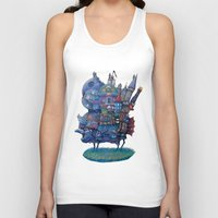 fandom Tank Tops featuring Fandom Moving Castle by nokeek