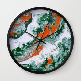 Carnival Squash Abstract Wall Clock