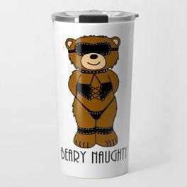 Beary Naughty Bear Travel Mug