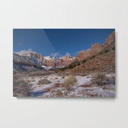 Zion Winter 4718 - National_Park, Utah Metal Print