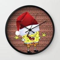 spongebob Wall Clocks featuring Spongebob Celebration by Neo Store