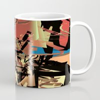 nietzsche Mugs featuring Nietzsche Walks Out At Bayreuth (The Theater of Noisea)  by Lanny Quarles