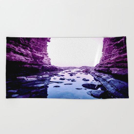 Purple Blue Lagoon Beach Towel