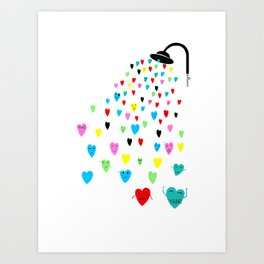 Love shower Art Print
