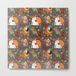 Autumn Birds Metal Print