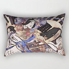 Tomoe Gozen- Female Samurai Rectangular Pillow