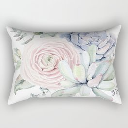 Succulent Blooms Rectangular Pillow