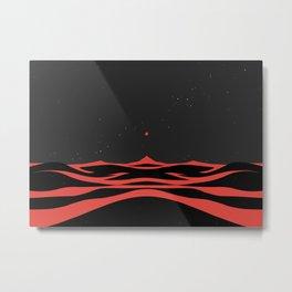 Black Dunes II Metal Print