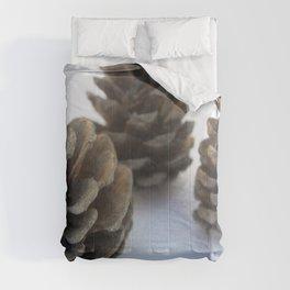 Winter Wonderland Wannabe Minimal Pinecones Comforters
