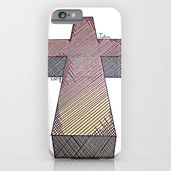 Justice Cross iPhone & iPod Case