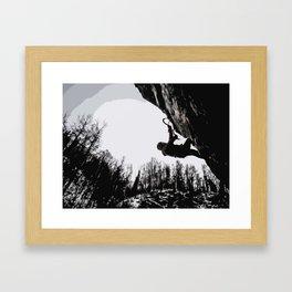 Climbers Silhouette #2 Framed Art Print
