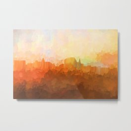 Augusta,Maine Skyline - In the Clouds Metal Print