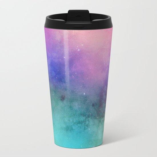 Mystical azure galaxy Metal Travel Mug