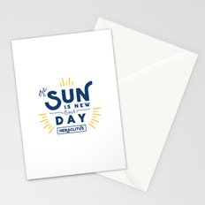 Heraclitus - The sun is new each day Stationery Cards