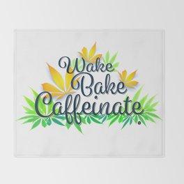 Wake Bake Caffeinate Throw Blanket