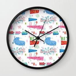 Atomic Ho Ho Ho Wall Clock