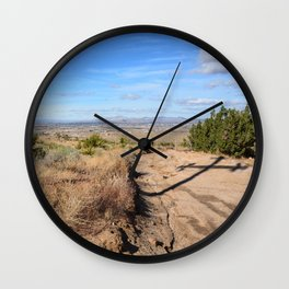 Clouds and Shadows Cast in the California Desert Wall Clock