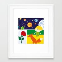 le petit prince Framed Art Prints featuring Le Petit Prince by Lara Fotografica