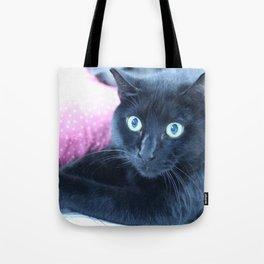 Spooky the Black Feral Halloween Sanctuary Cat Tote Bag