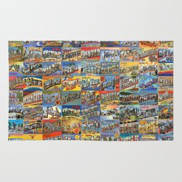 Greetings From Postcards Rug