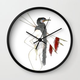 The Common Cormorant Wall Clock