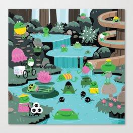 Frog Lido Canvas Print