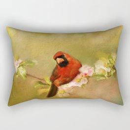 Cardinal of Spring Rectangular Pillow