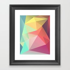 geometric V Framed Art Print