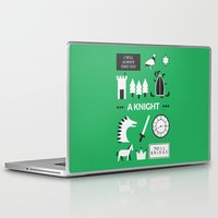 ouat Laptop & iPad Skins featuring OUAT - A Knight by Redel Bautista