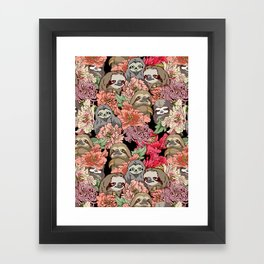 Because Sloths Framed Art Print