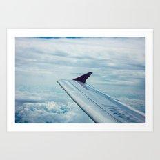 Skying Art Print
