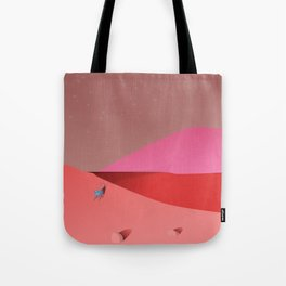 Alien Cat Lizard Greets the Day Tote Bag