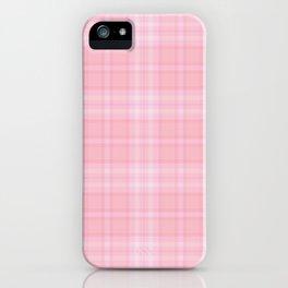 Pink Blush Plaid Pattern iPhone Case