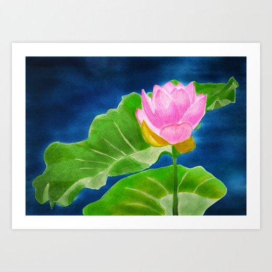 Pink Lotus Beauty Art Print