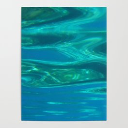 Below the surface - underwater picture - Water design Poster