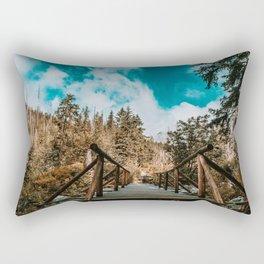 Road to the mountains Rectangular Pillow