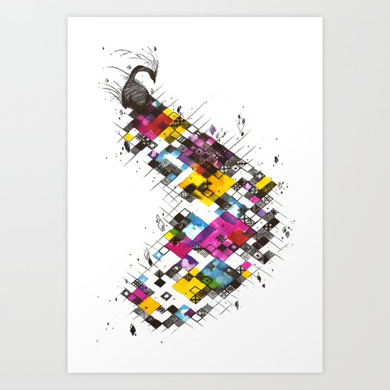 Ink Kaleidoscope Art Print