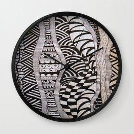 Line Tangle - Zentangle Wall Clock