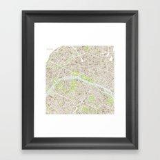 Paris SGB Watercolor Map Framed Art Print
