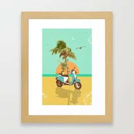 SCOOTER TROPICS Framed Art Print