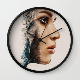 Doubel Exposure Mountain Wall Clock