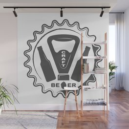 Craft Beer Bottles with Opener style Fashion Modern Design Print! Wall Mural