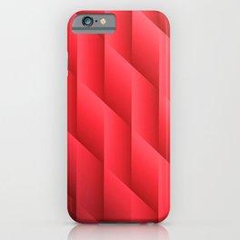 Gradient Red Diamonds Geometric Shapes iPhone Case