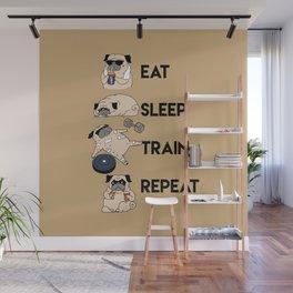 Eat Sleep Train Repeat Wall Mural