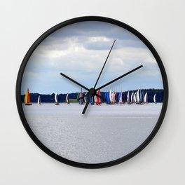 sailing regatta Wall Clock